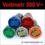 Digitální voltmetr LED kontrolka MAXI - 500V AC