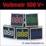 Digitální voltmetr LED kontrolka SQ - 500V AC