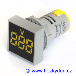 Digitální voltmetr LED kontrolka SQ - 500V AC - žlutý