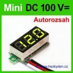 Digitální voltmetr LED modul mini 100V