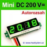 Digitální voltmetr LED modul mini 200V