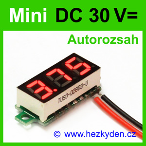 Digitální voltmetr LED modul mini 30V