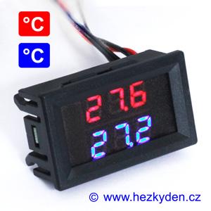 Dvojitý panelový LED teploměr