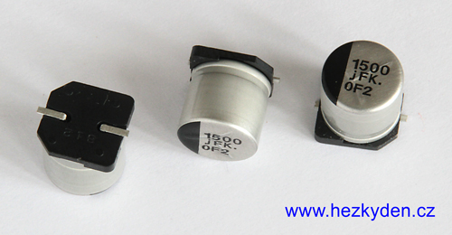 Elyt 1500µF 6,3V SMD detail