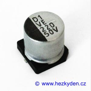 Elektrolyt 220µ 50V SMD