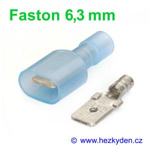 Faston na kabel krimpovací izolovaný