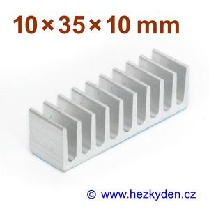 Hliníkový chladič samolepicí 10x35mm