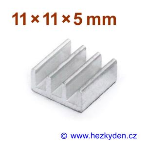 Hliníkový chladič samolepicí 11x11mm