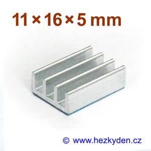 Hliníkový chladič samolepicí 11x16mm