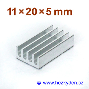 Hliníkový chladič samolepicí 11x20mm