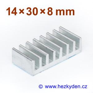 Hliníkový chladič samolepicí 14x30mm