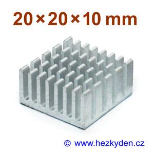Hliníkový chladič samolepicí 20x20x10mm