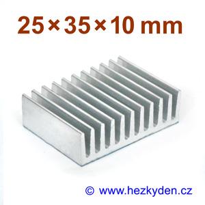 Hliníkový chladič samolepicí 25x35mm