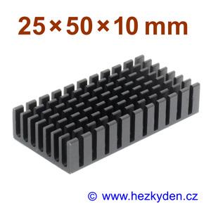 Hliníkový chladič samolepicí 25x50mm