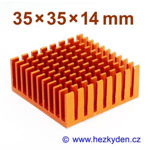 Hliníkový chladič samolepicí 35x35mm