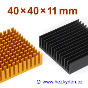 Hliníkový chladič samolepicí 40x40mm