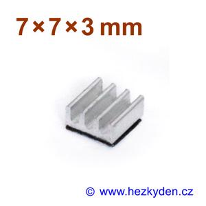 Hliníkový chladič samolepicí 7x7mm