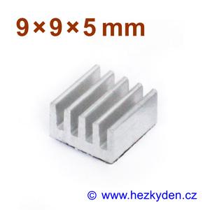 Hliníkový chladič samolepicí 9x9mm