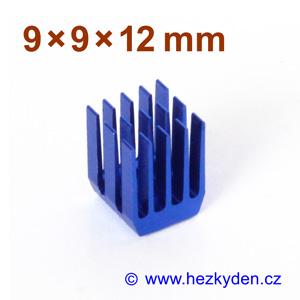 Hliníkový chladič samolepicí 9x9x12mm