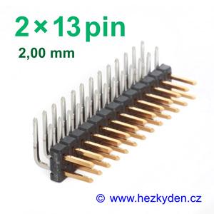 Jumperová lišta 2×13 pin - rozteč 2 mm