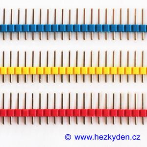 Jumperové kolíkové lišty barevné 1×40 pin