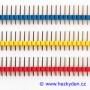 Jumperové kolíkové lišty barevné