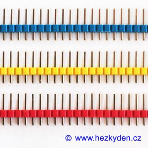 Jumperové kolíkové lišty barevné 1x40 pin