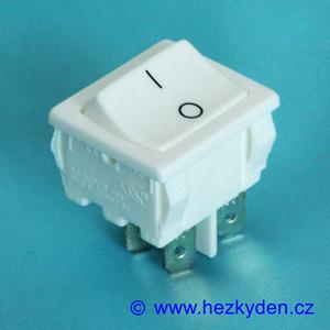 Kolébkový vypínač dvoupólový bílý