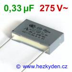 Fóliový kondenzátor 330nF 275Vac