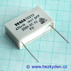 Kondenzátor 470nF Tesla TD233