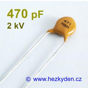 Kondenzátor 470pF 2kV
