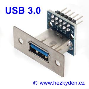 Konektor USB 3.0 typ A zásuvka na panel