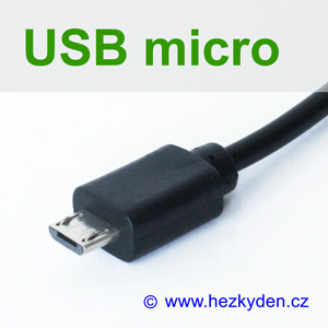 Konektor USB micro s kabelem