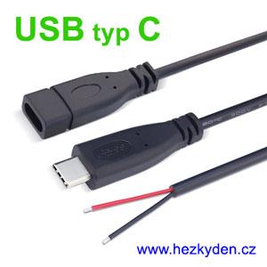 Konektor USB typ C s kabelem
