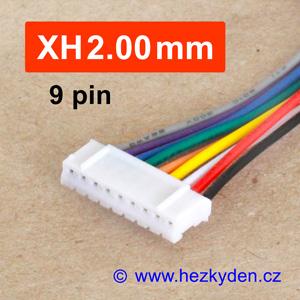 Konektor XH2.00mm - vidlice s kabelem - 9 pin