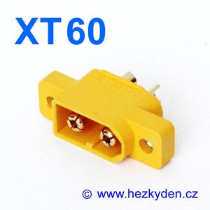 Konektor XT60 panelový