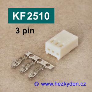 Konektory KF2510 krimpovací na kabel - 3 pin