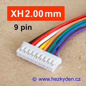 Konektory XH2.00mm - vidlice s kabelem - 9 pin