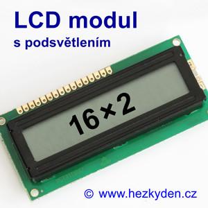 LCD modul 16×2 spodsvětlením