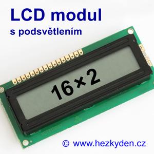 LCD modul 16x2 s podsvětlením