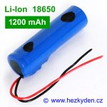 Li-Ion baterie 18650 1200mAh