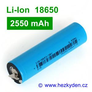 Li-Ion baterie 18650 EVE 2550mAh