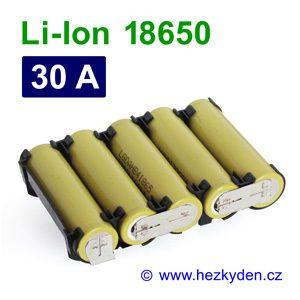 Li-Ion baterie 18650 LG HB4 1500mAh 5pack