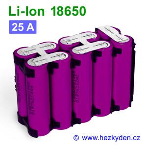 Li-Ion baterie 18650 LG 2000mAh 10pack