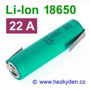 Li-Ion baterie 18650 Samsung 2000 mAh INR18650-20r