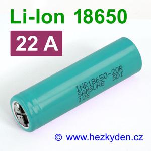 Li-Ion baterie 18650 Samsung 2000mAh INR18650-20r