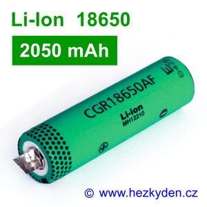 Li-Ion baterie CGR18650AF Panasonic 2050mAh
