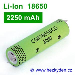 Li-Ion baterie CGR18650CG Panasonic 2250mAh