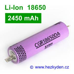 Li-Ion baterie CGR18650DA Panasonic 2450mAh