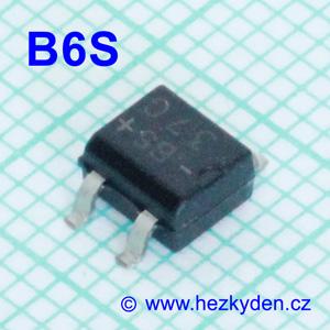 Můstek Vishay B6S - 600V 0,5A SMD